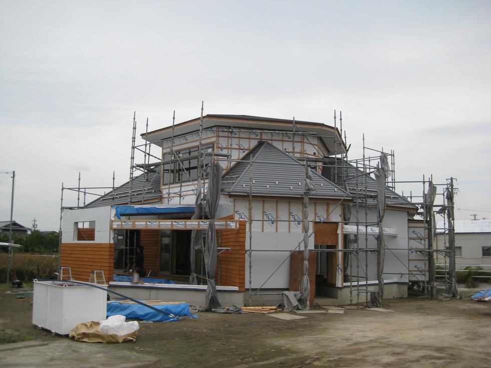 愛知県稲沢市「開花の家」木造住宅 現場