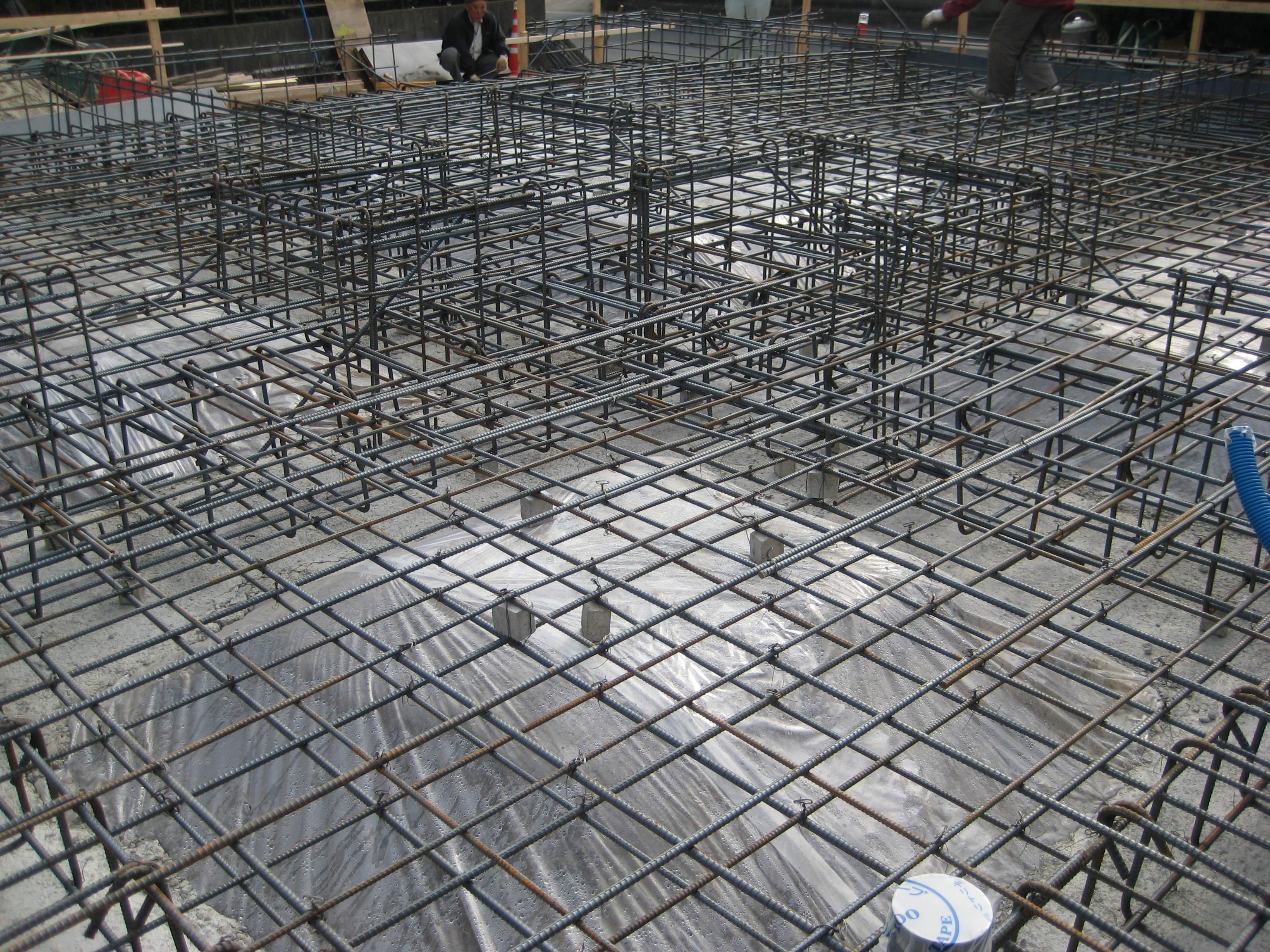 愛知県東海市「荒尾の家」木造住宅  配筋検査