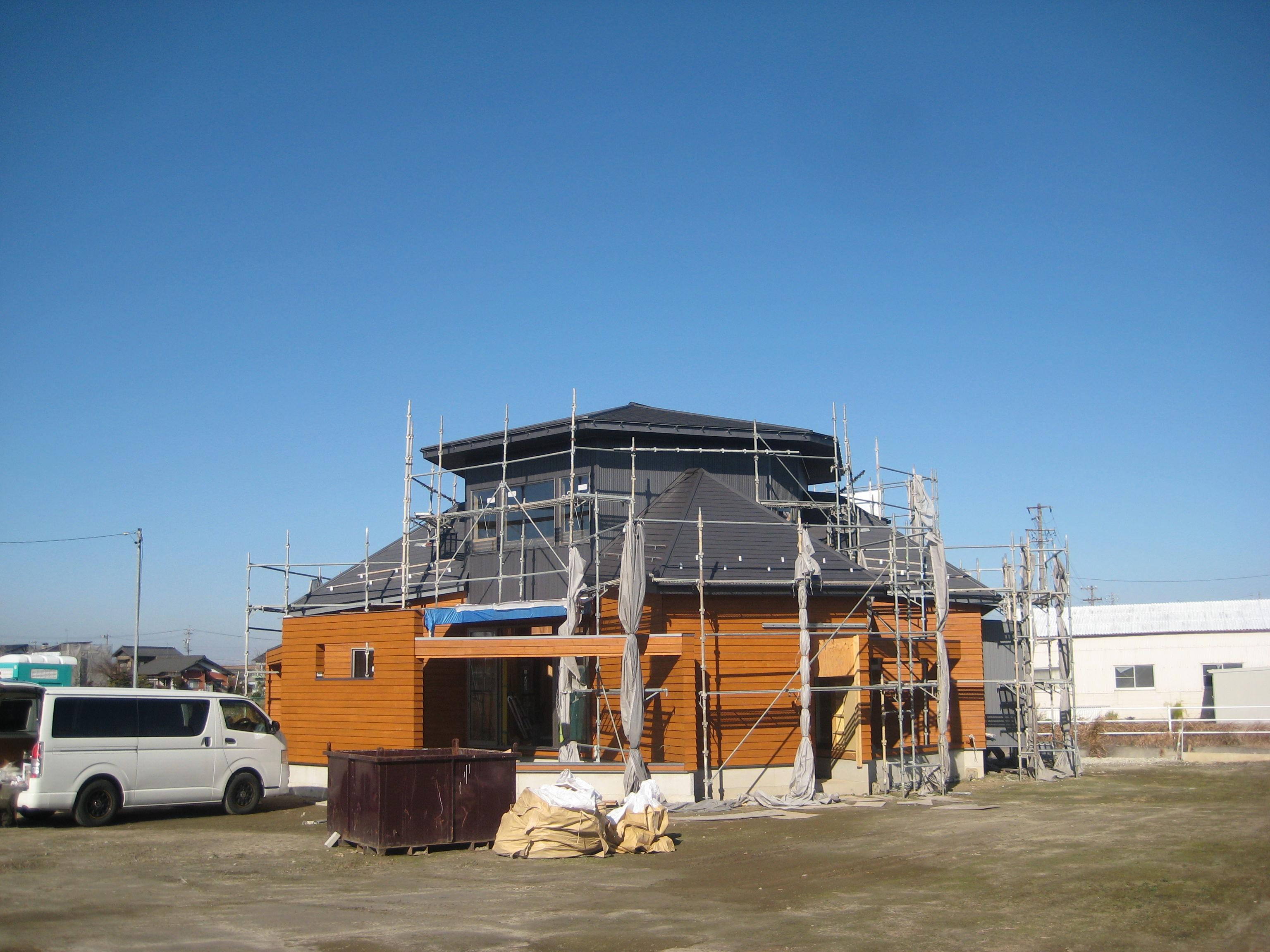 愛知県稲沢市「開花の家」木造住宅 外観