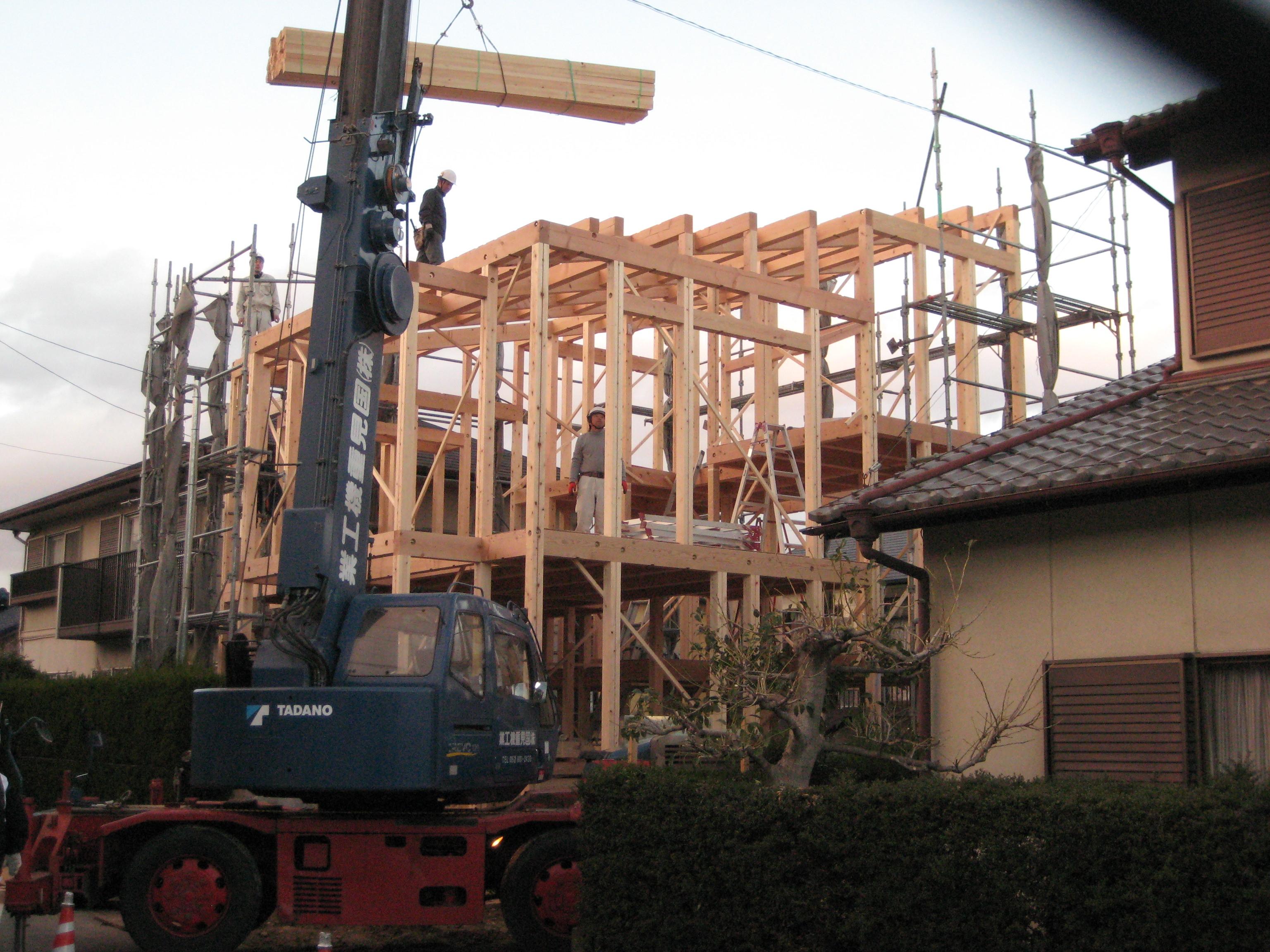 愛知県東海市「荒尾の家」木造住宅 上棟