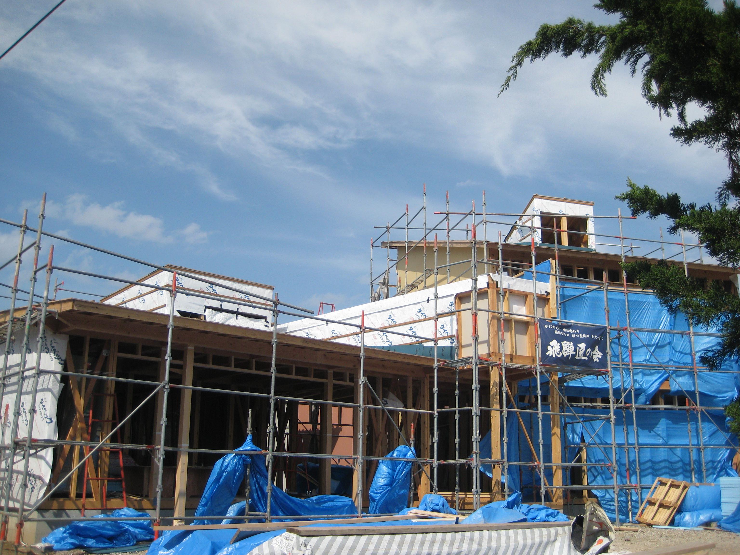 岐阜県養老町「下笠の家」木造2階建 2世帯 現場