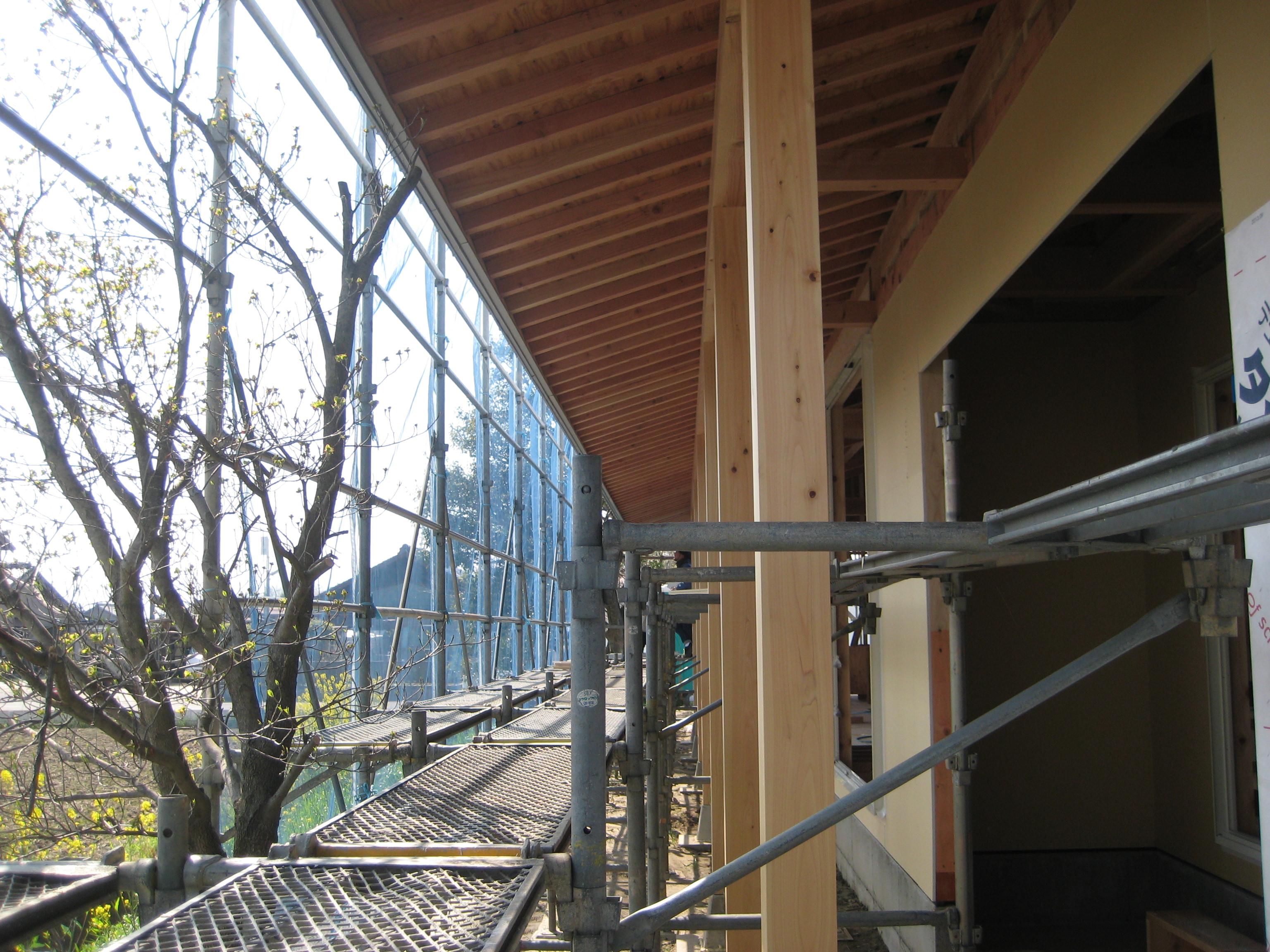 愛知県一宮市東加賀野井「川原の家」木造住宅 平屋建 現場