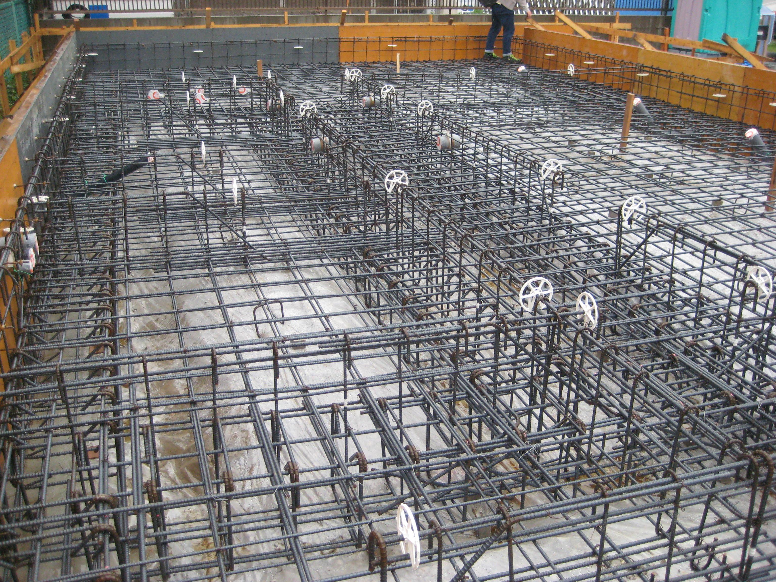 愛知県あま市甚目寺「大渕の家」木造2階建 2世帯  配筋検査