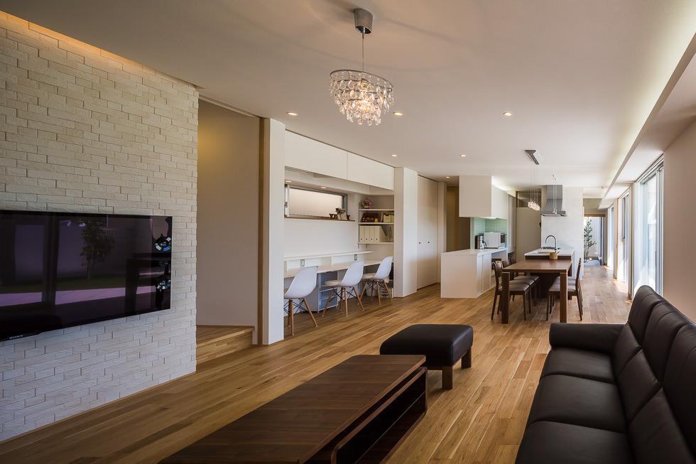 愛知県西尾市「白珪の家」木造+鉄骨造 住宅 竣工写真