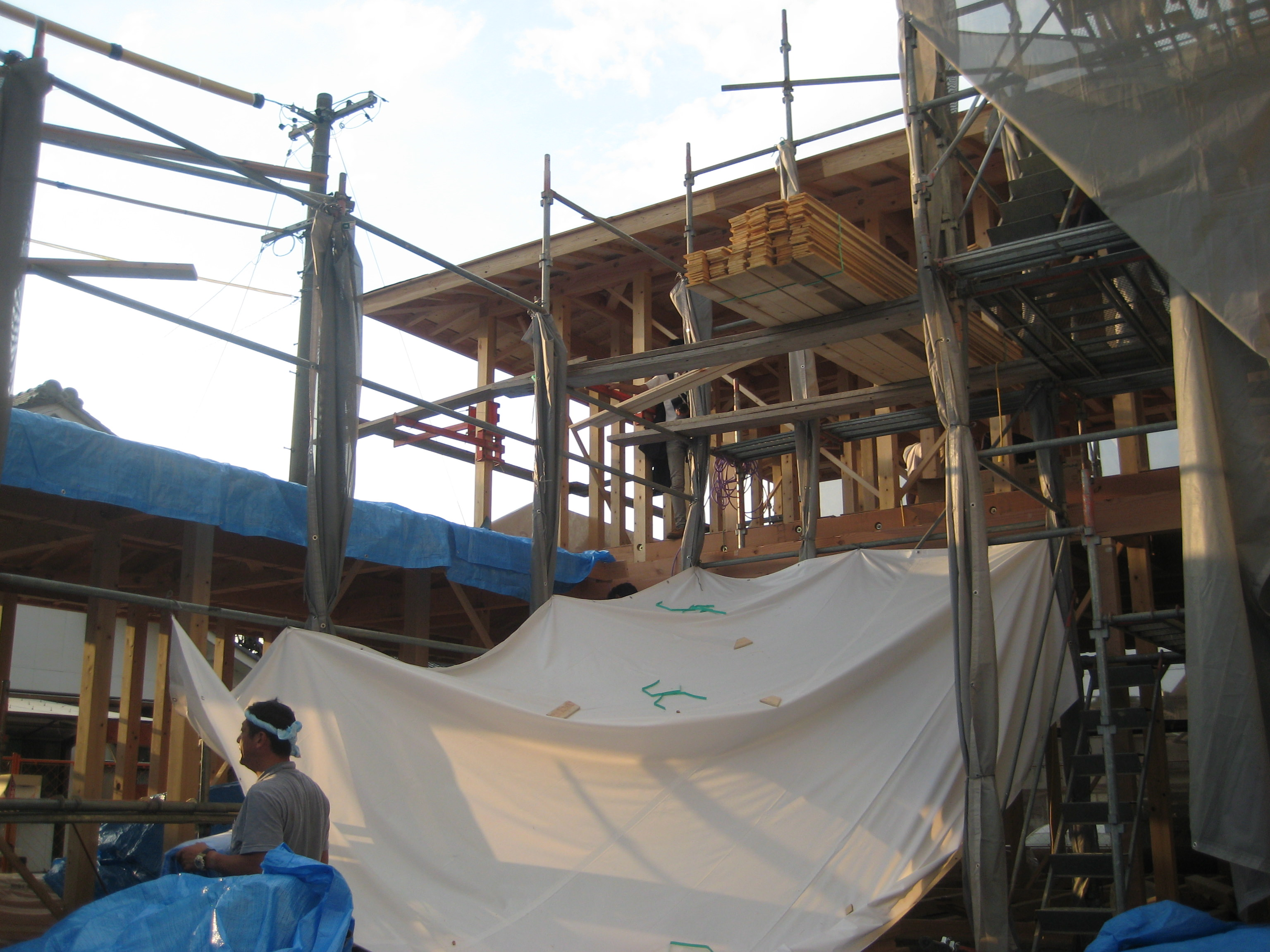 愛知県犬山市「古券の家」木造住宅 上棟