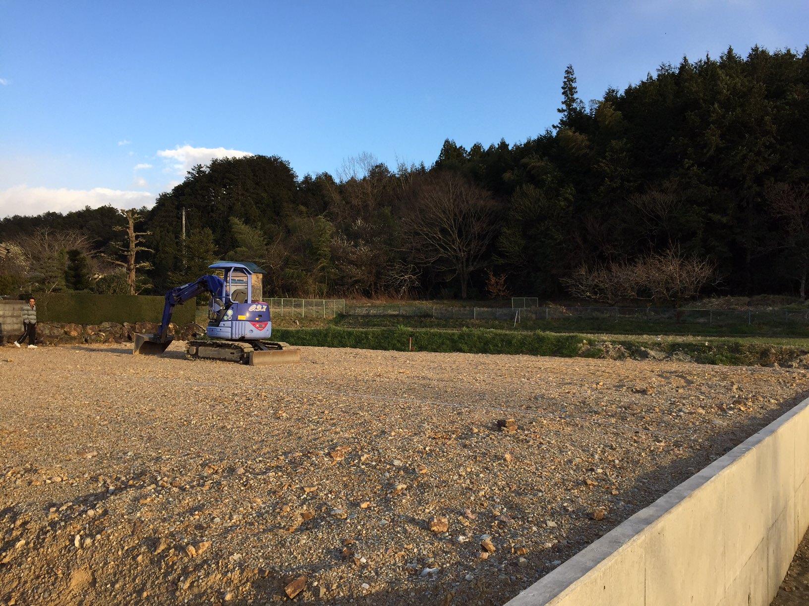 岐阜県山県市「梅原の家」木造2階建て 地盤高確認