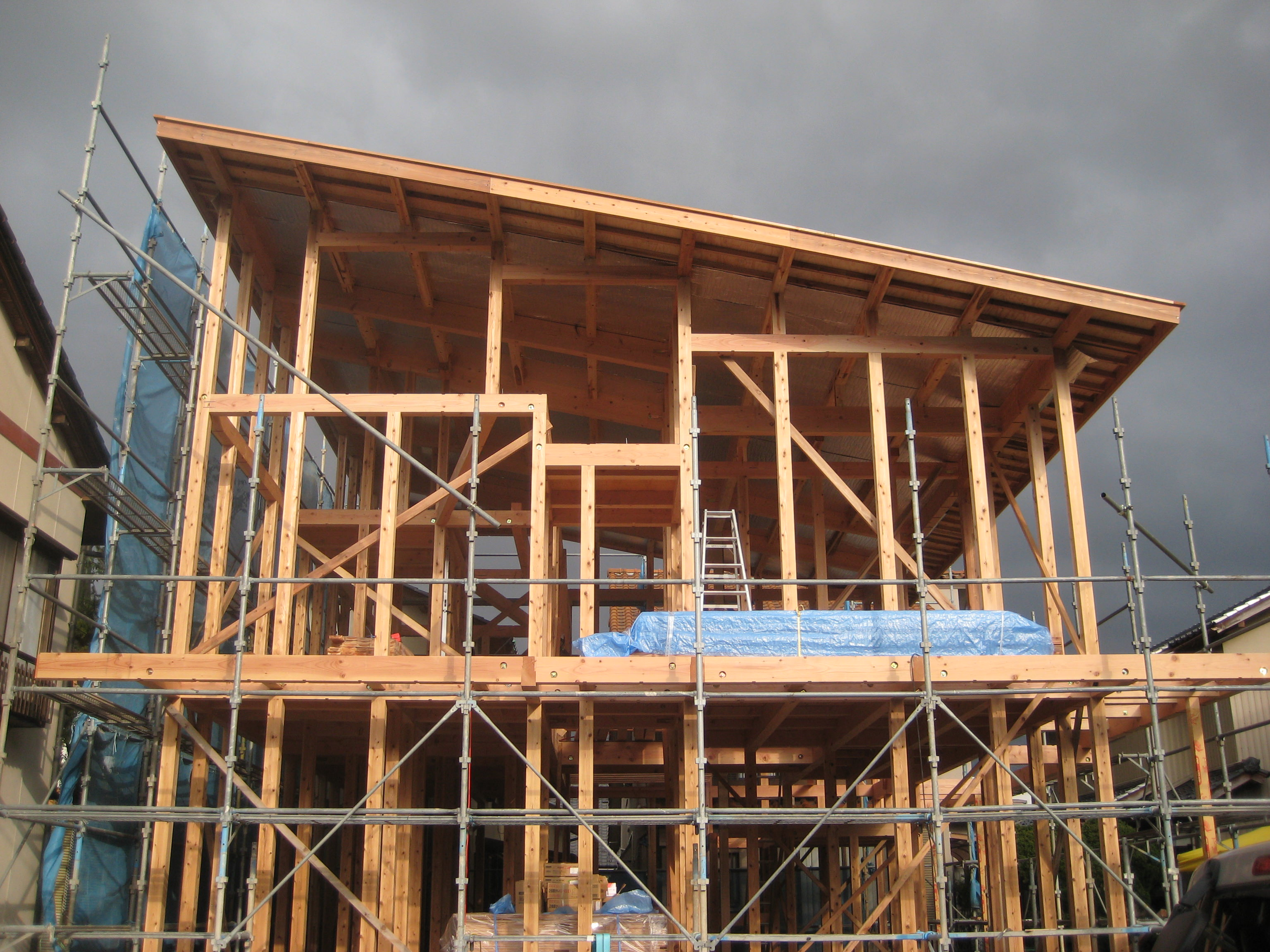 福井県福井市「和敬の家」木造2階建て 上棟