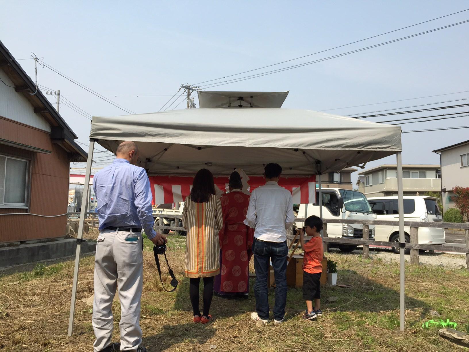 愛知県安城市「塔元の家」木造2階建 スキップフロア 地鎮祭