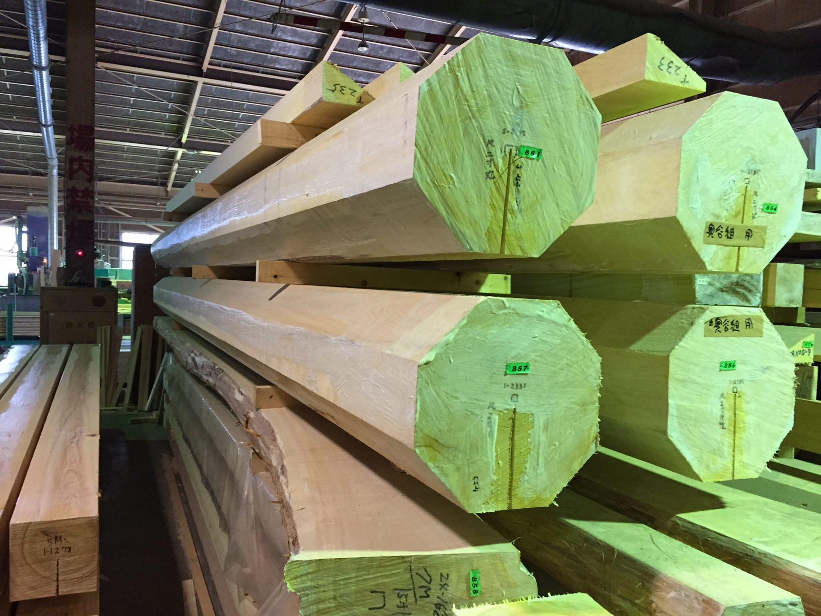 桑原木材の工場視察