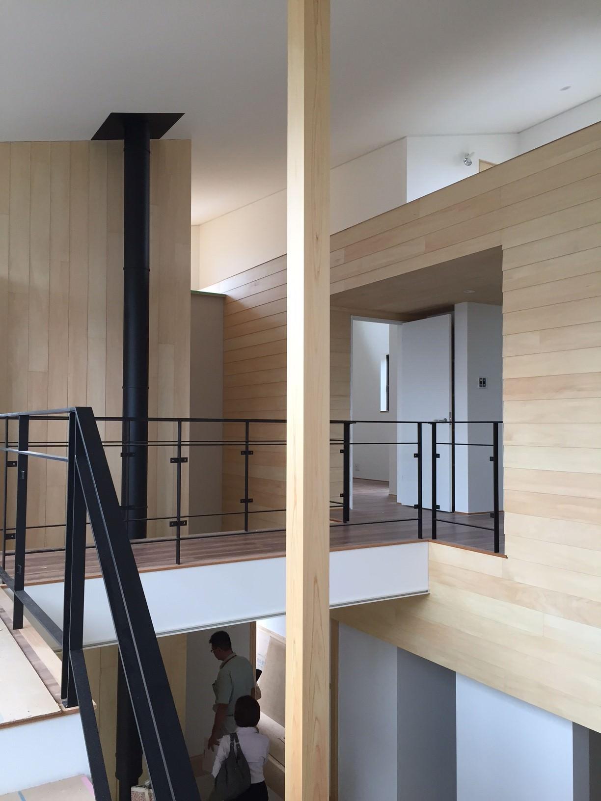 福井県福井市「和敬の家」木造2階建て バイクガレージ 現場