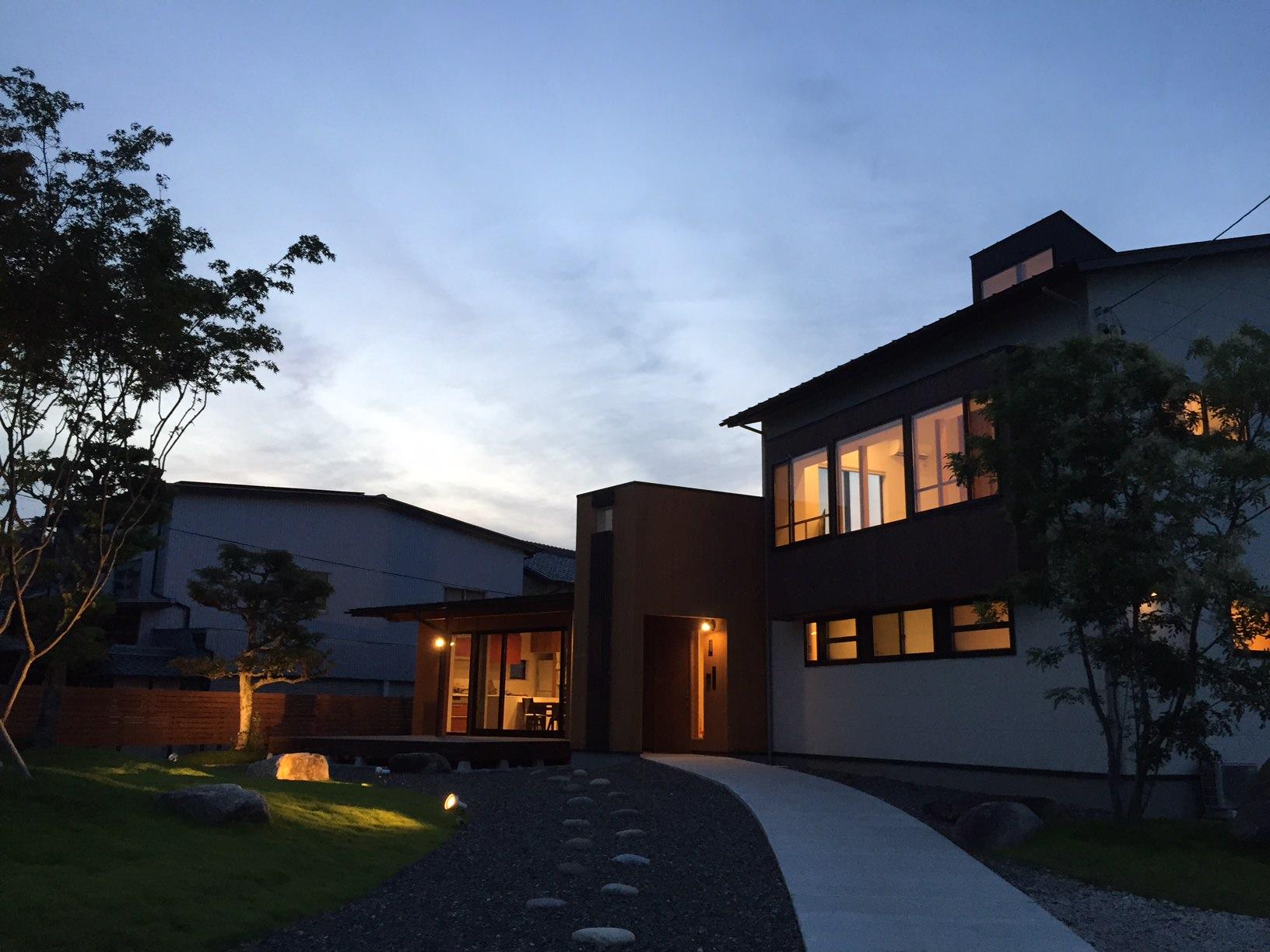 岐阜県養老町「下笠の家」木造2階建て 2世帯住宅 スキップフロアー 撮影