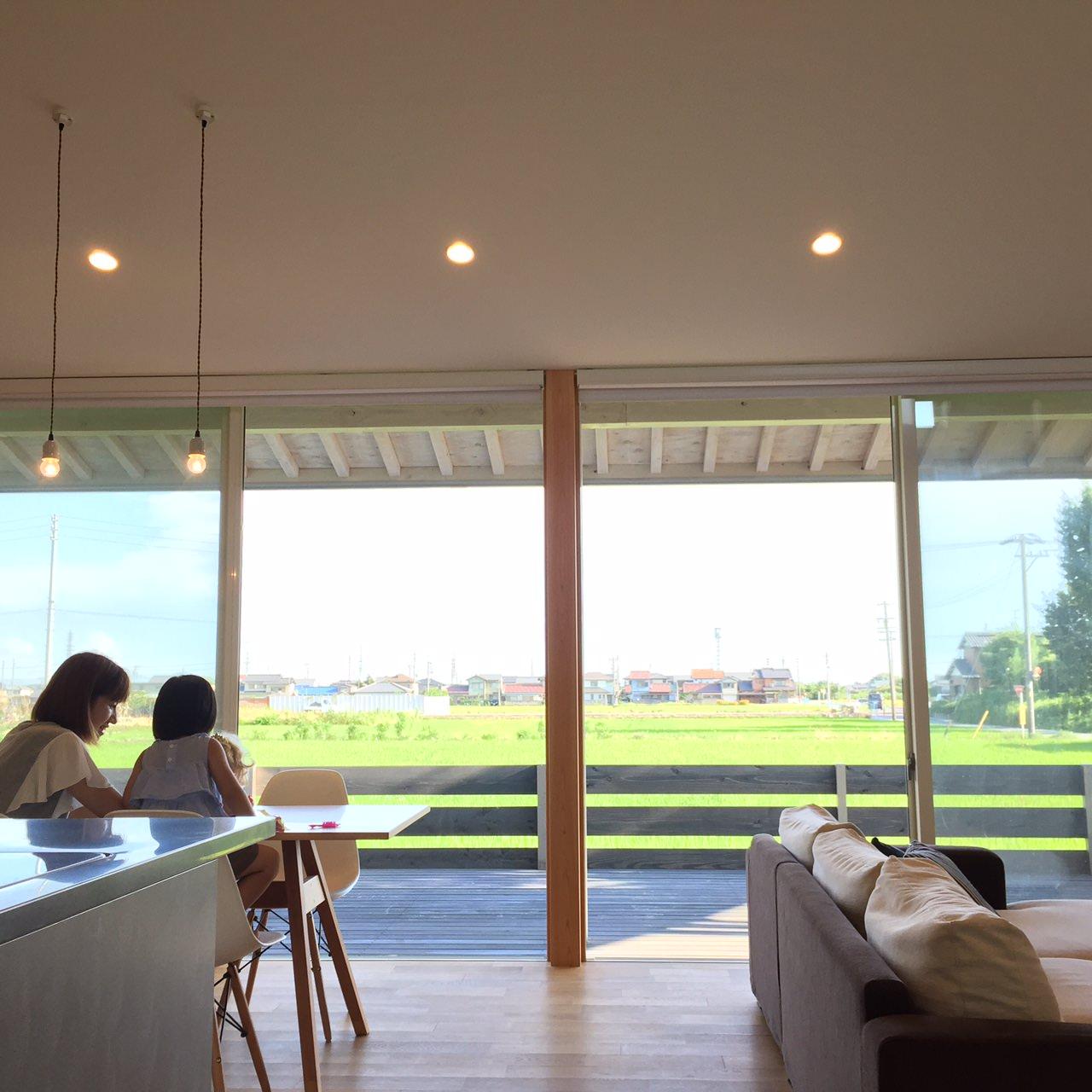 愛知県一宮市 「川原の家」木造住宅 平屋建ガレージハウス 竣工撮影1