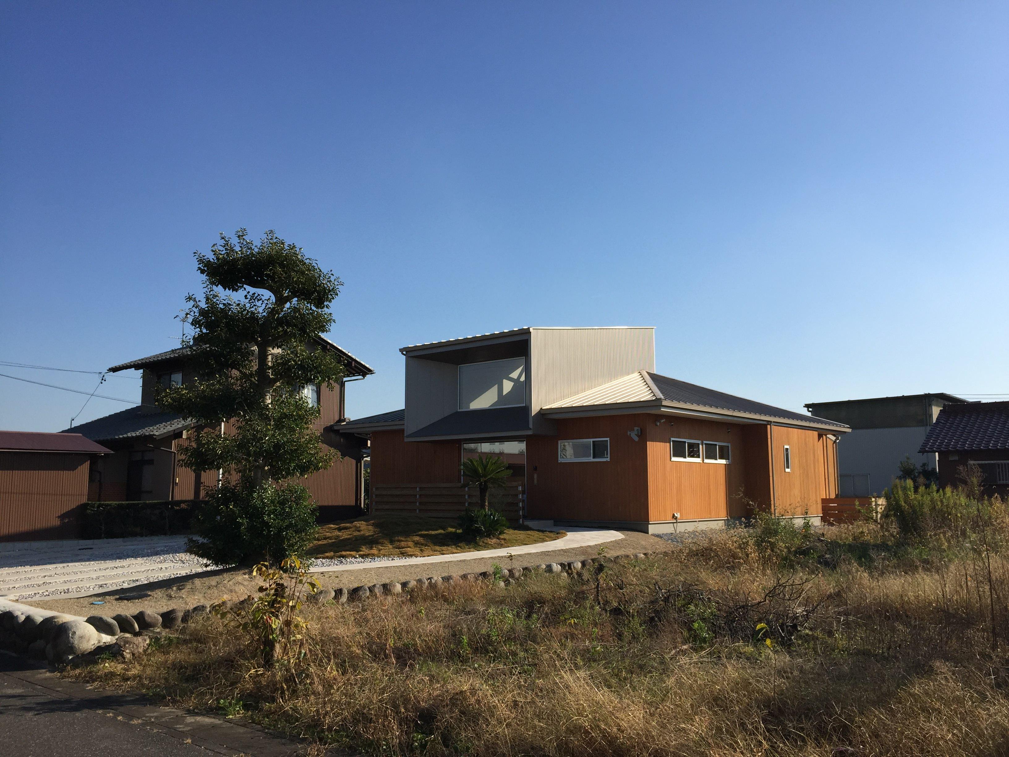 岐阜県羽島市「回光の家」木造平屋建 竣工写真撮影