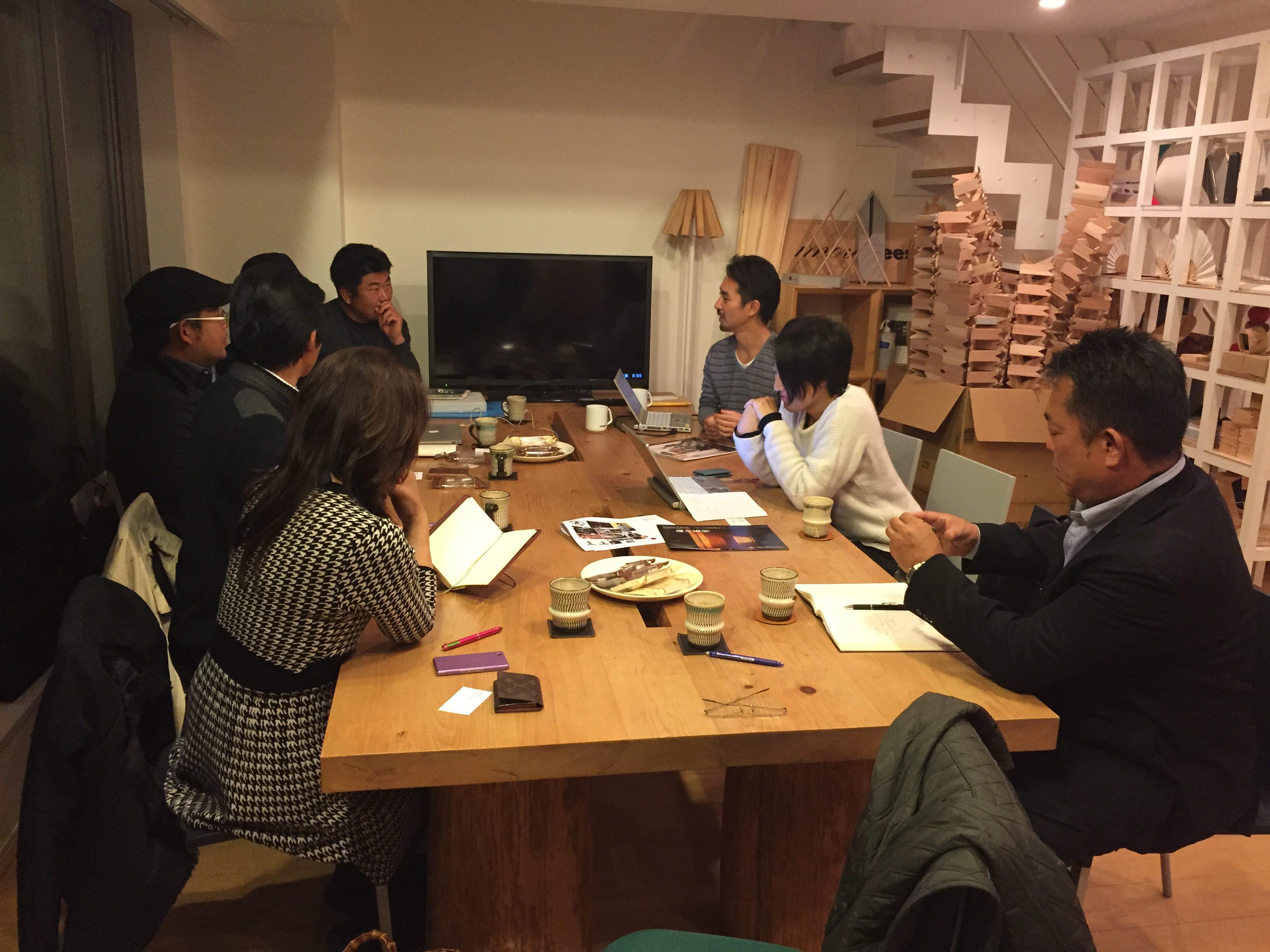 東京 坂本龍一(教授)さん代表の「モア・ツリーズ」さんとの会議