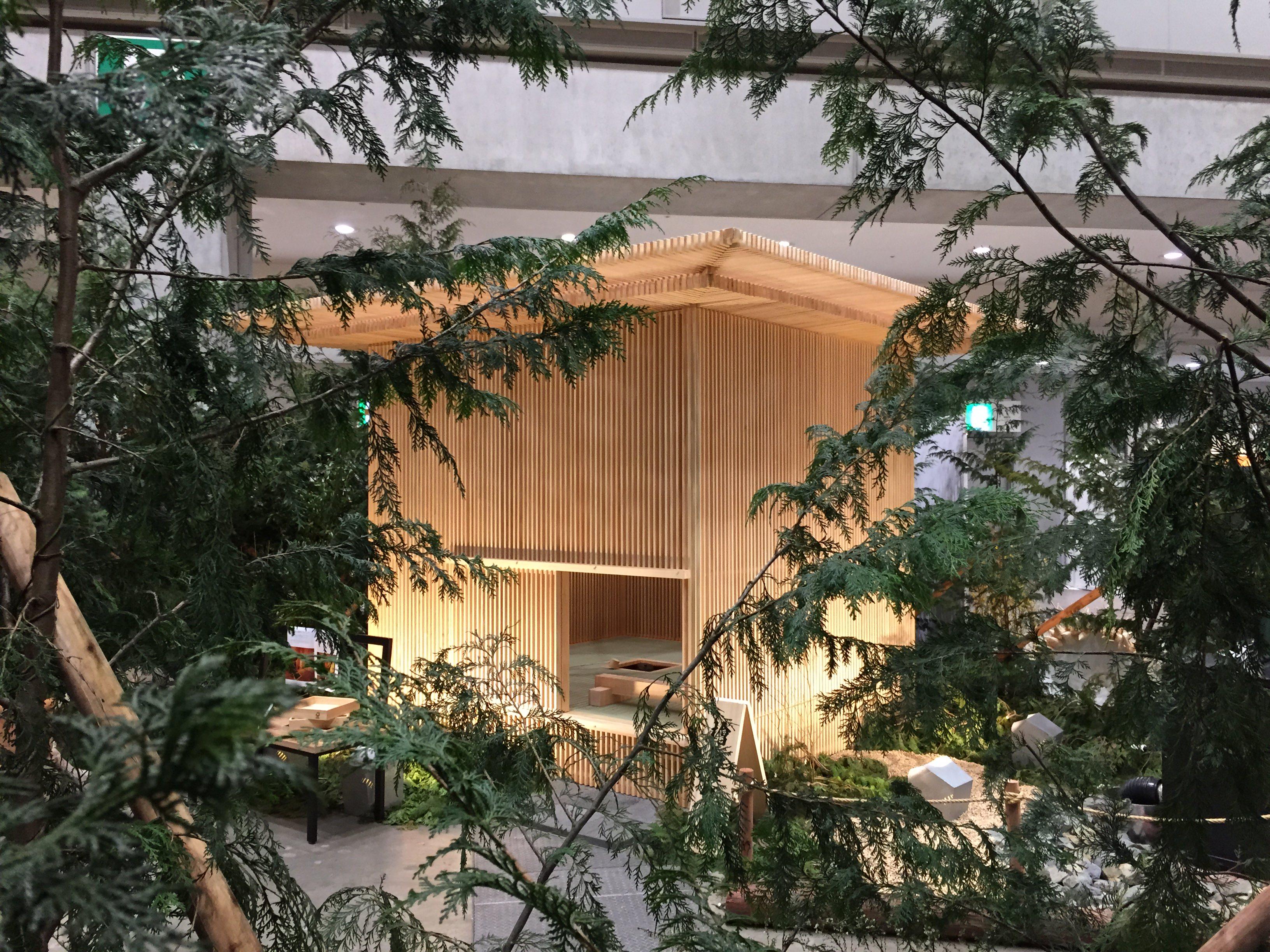 「木と住まいの博覧会」「耐震博覧会2016・東京」に移動茶室(森の茶室/檜の茶室)が展示されました。