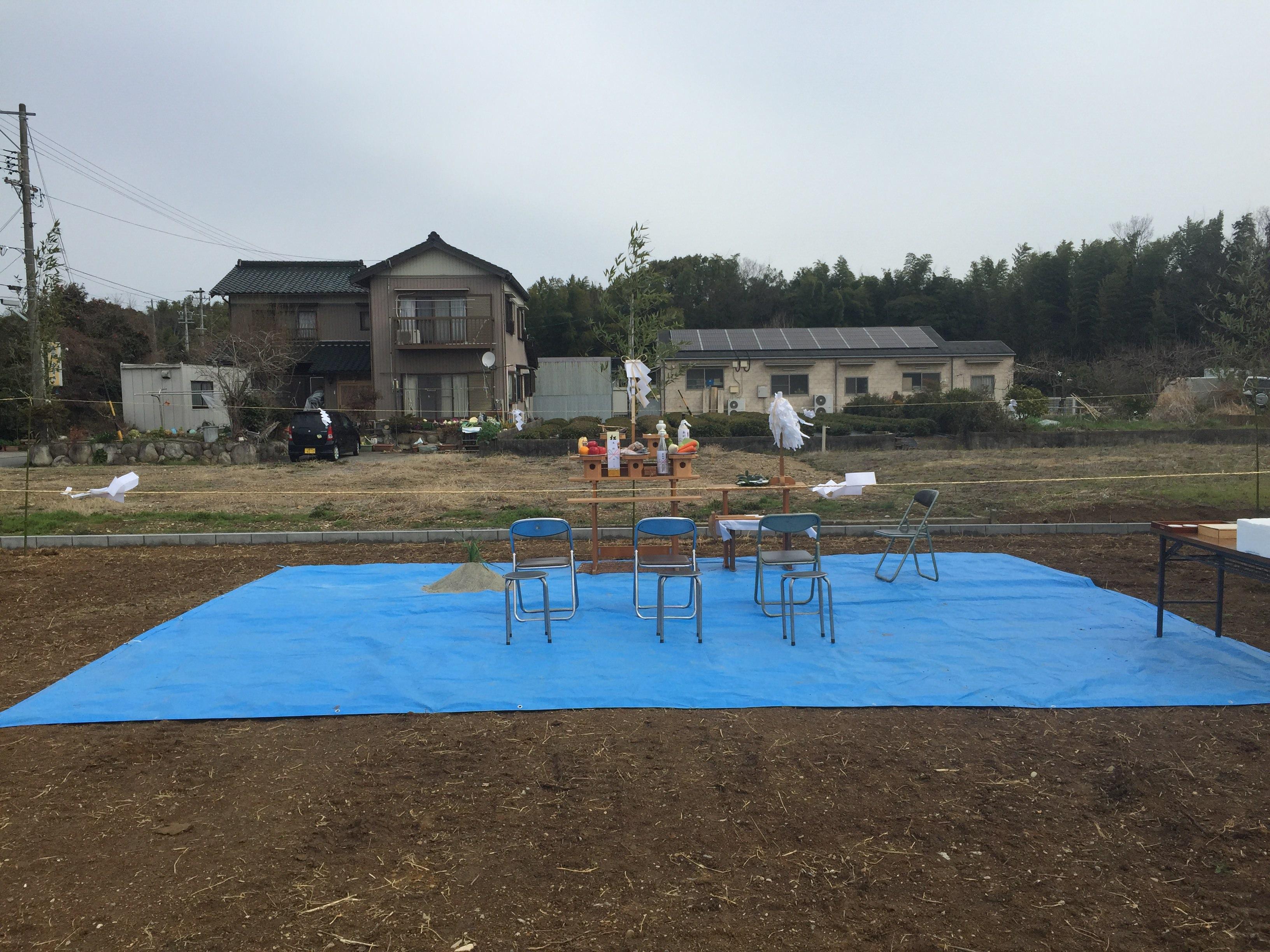 三重県桑名市「七和の家」木造平屋建 地鎮祭