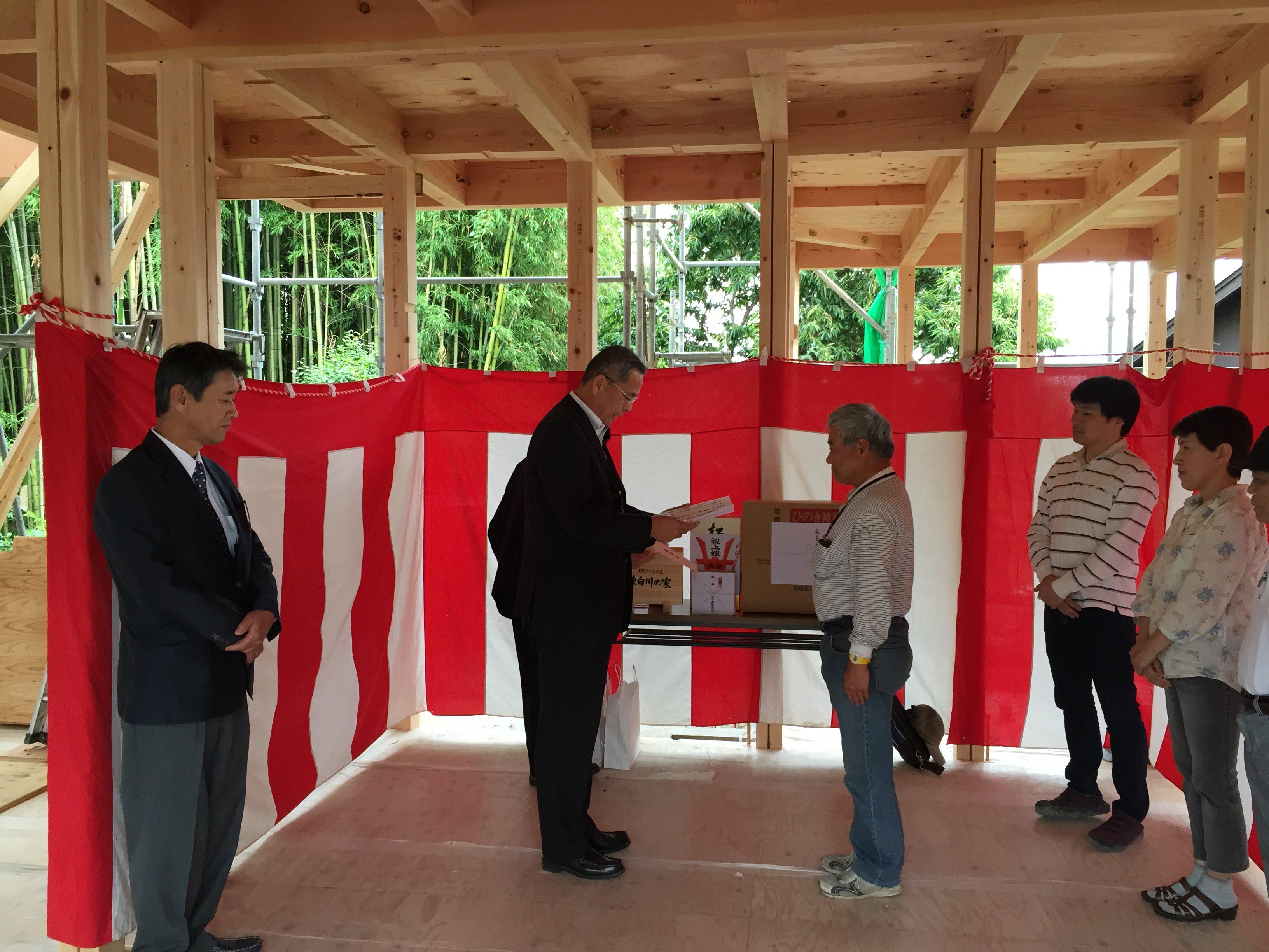 愛知県東海市「大田の家」木造2階建 2世帯住宅 上棟式