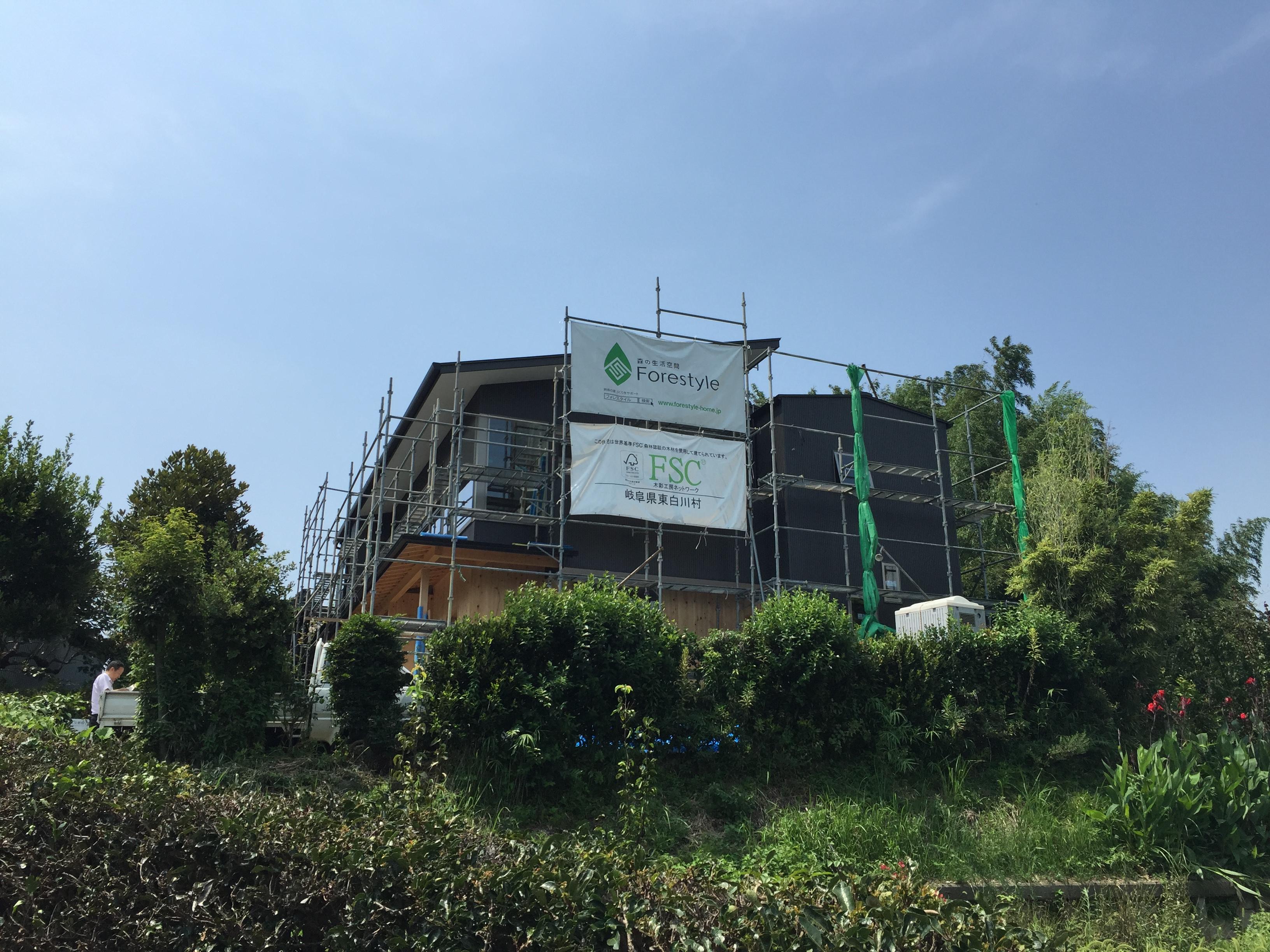 愛知県東海市「大田の家」 国産材 フォレスタイル 2世帯住宅 現場