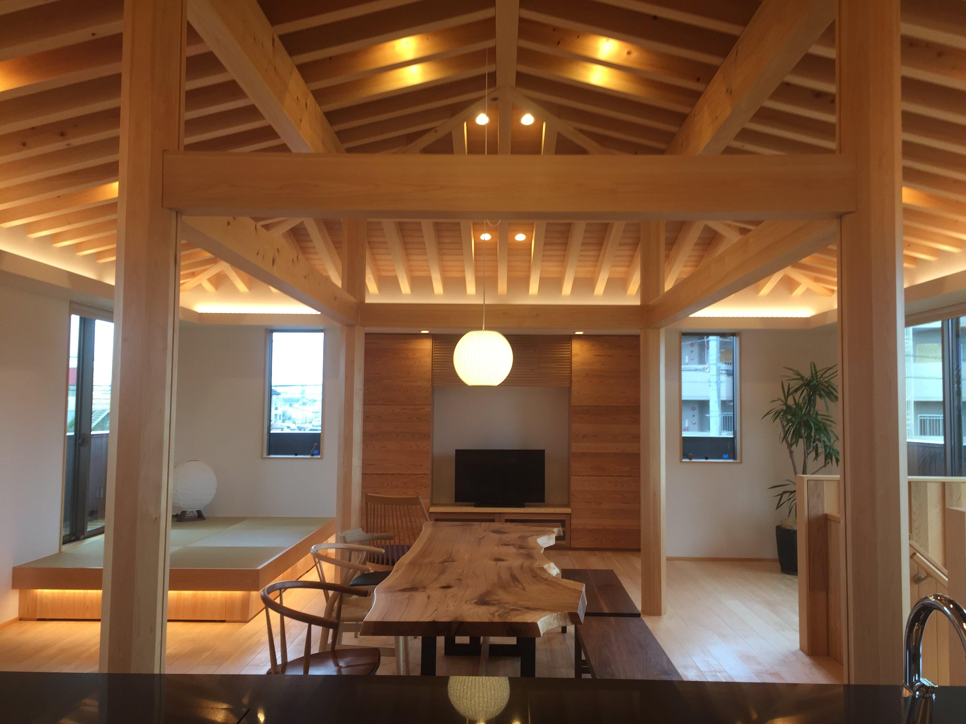 愛知県小牧市「桑原木材㈱モデルハウス」 国産材 木の家 プレオープン