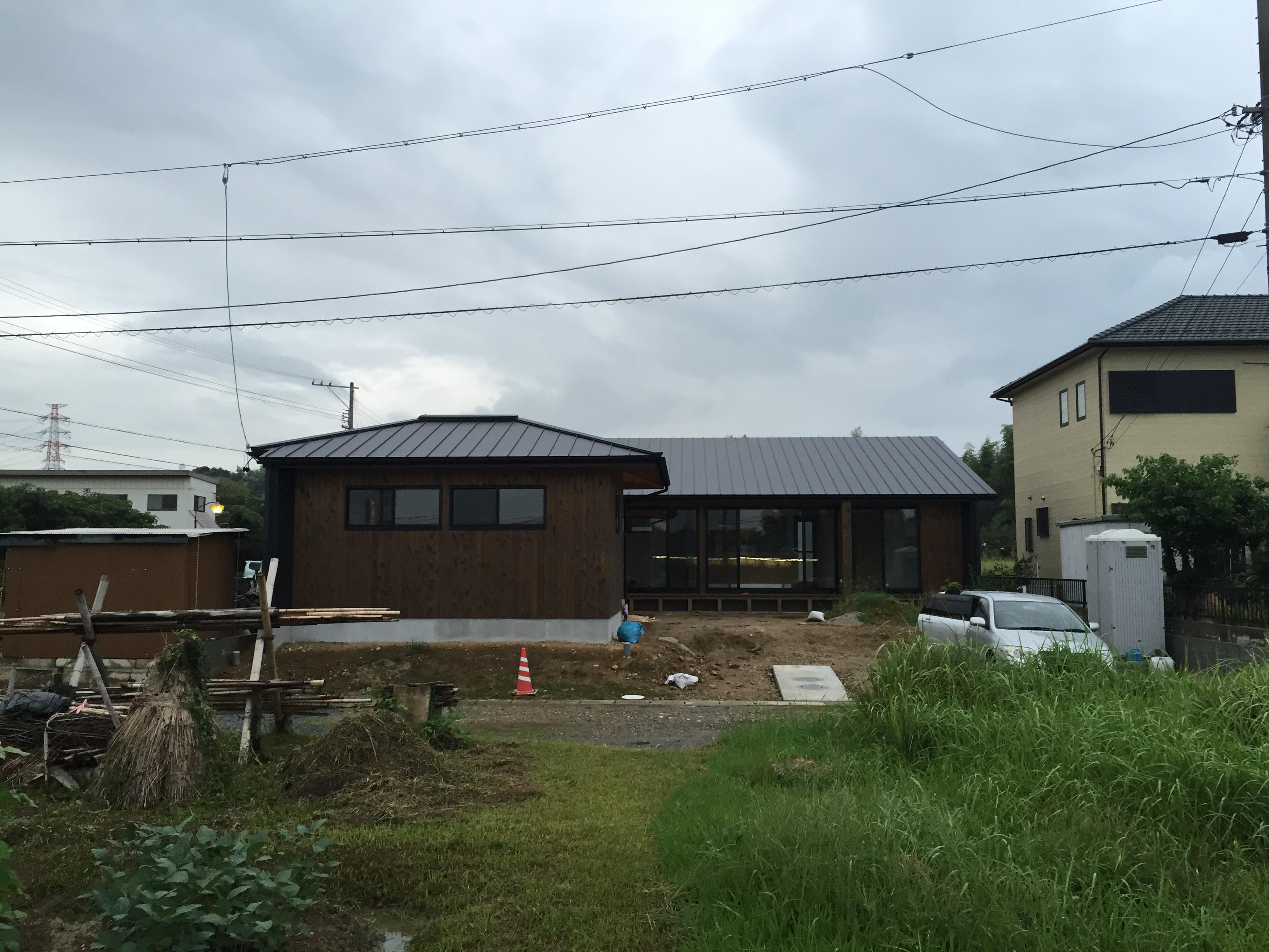 三重県桑名市「七和の家」 平屋 国産材 現場