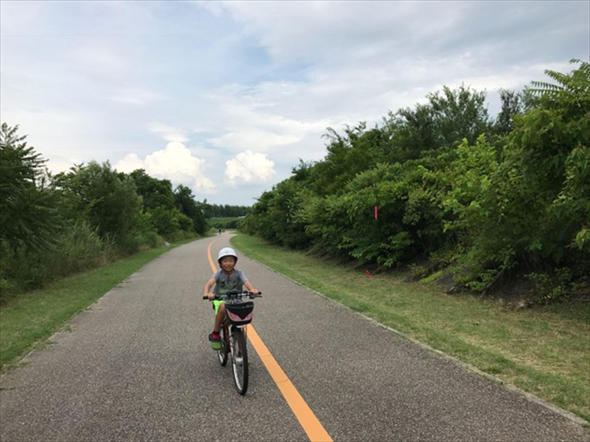 次男とサイクリング