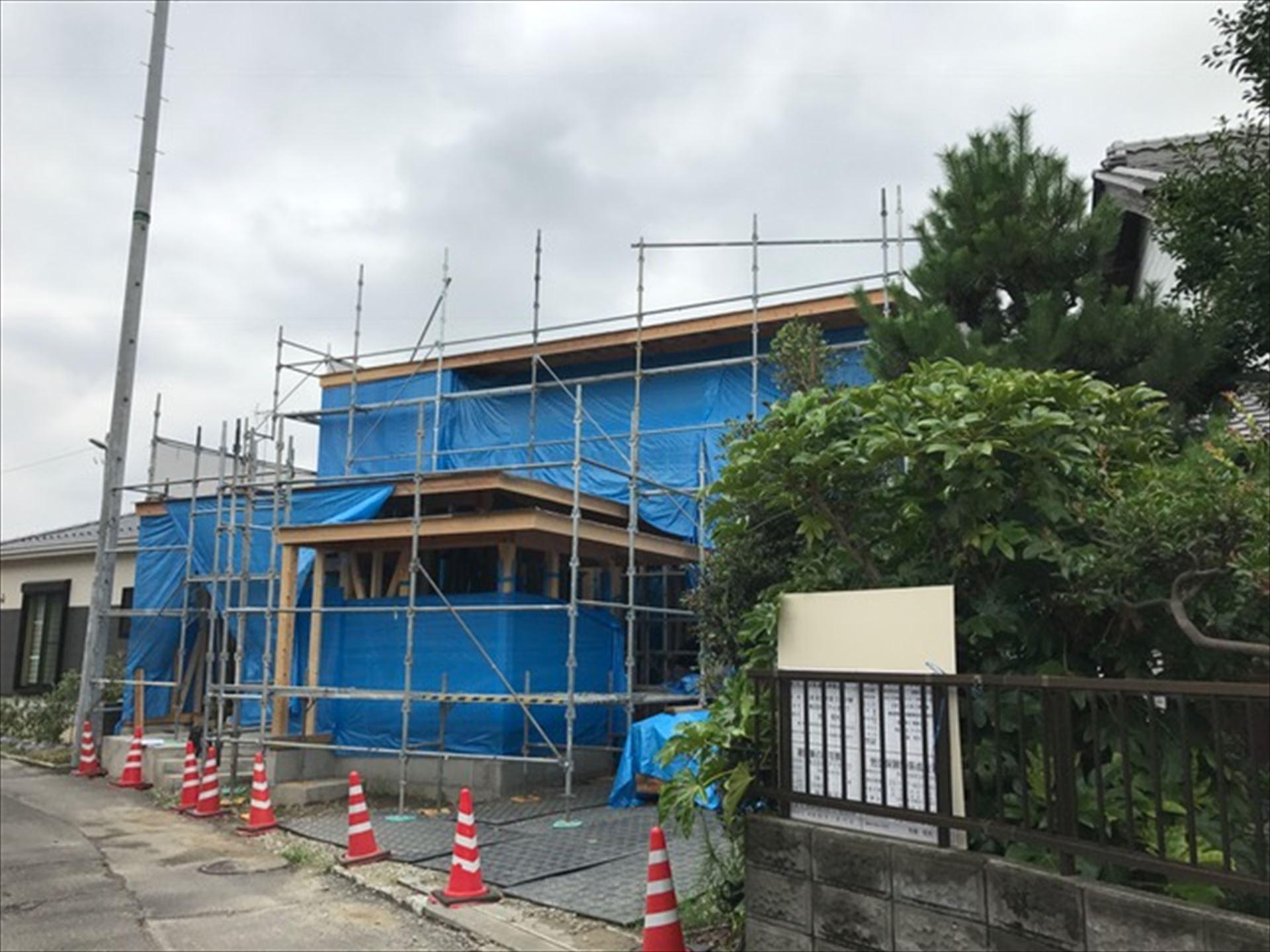 岐阜県岐南町 「徳田の家」 木の家 現場