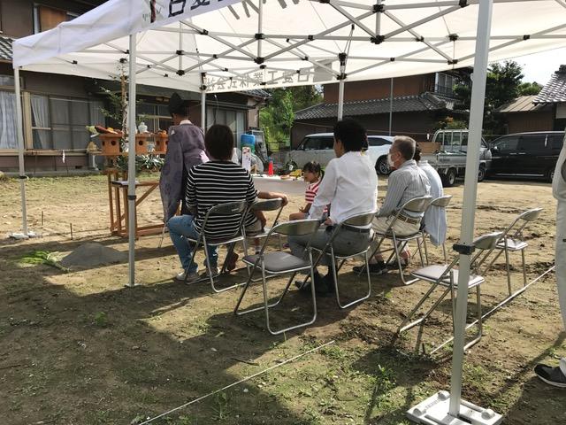 愛知県一宮市 「極楽寺の家」 木の家 地鎮祭