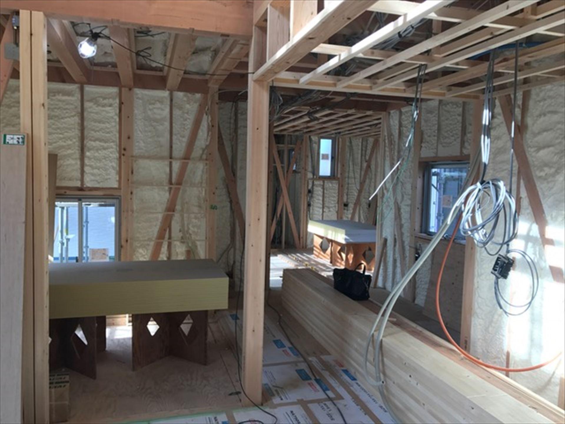 愛知県一宮市 「極楽寺の家」 木の家 現場