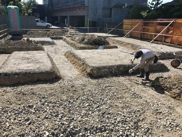 愛知県一宮市 「一宮のコートハウス」 木の家 土工事