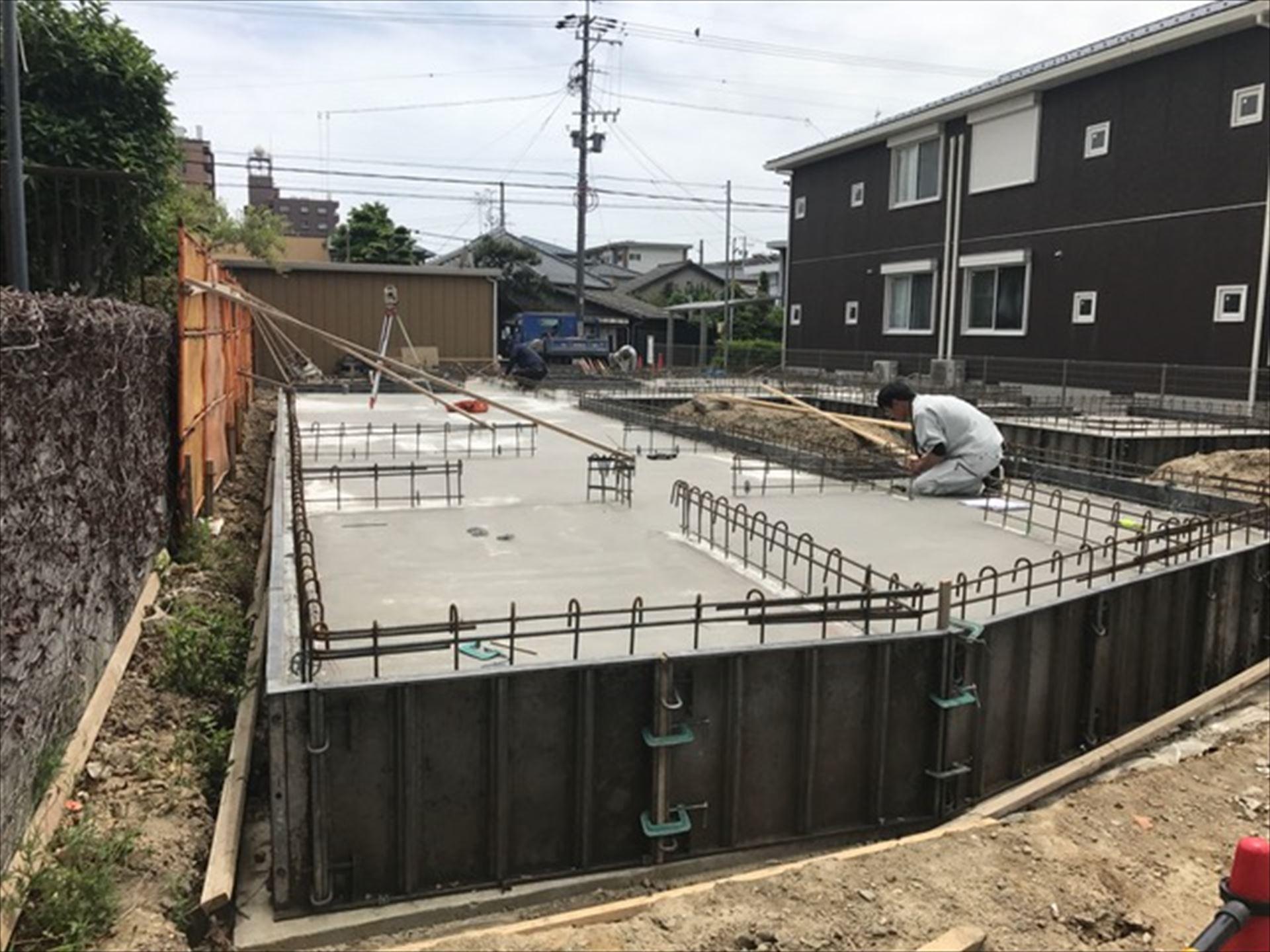 愛知県一宮市 「一宮のコートハウス」 木の家 基礎工事
