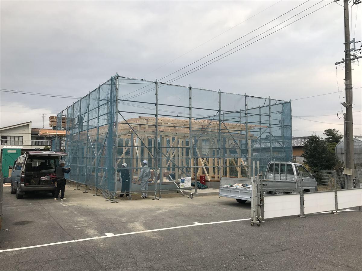一宮市 「調剤薬局」新築工事 上棟