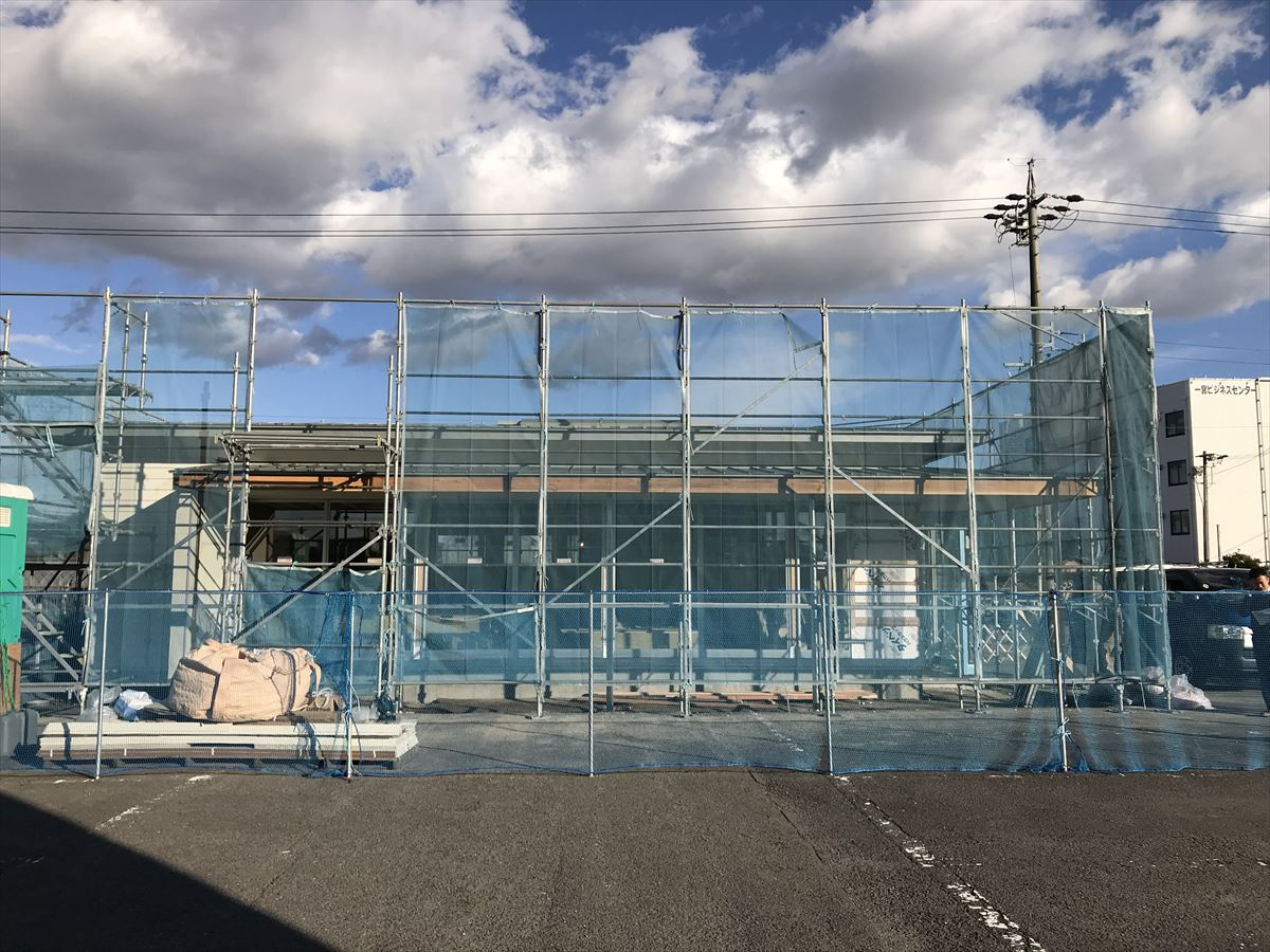 愛知県一宮市 調剤薬局 「くすりのおうち」新築工事 現場
