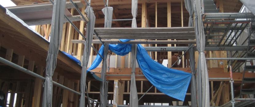 愛知県犬山市「古券の家」木造住宅 中間検査