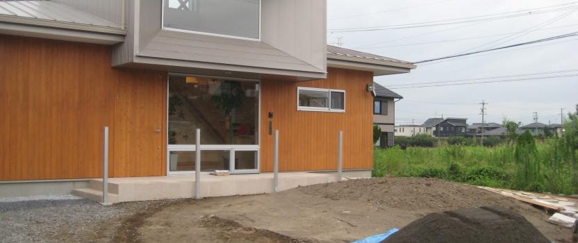 岐阜県羽島市「回光の家」木造住宅 平屋建て 外構工事