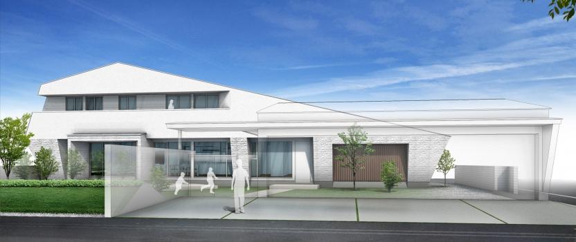 愛知県西尾市「白珪の家」木造+鉄骨造 構造検査