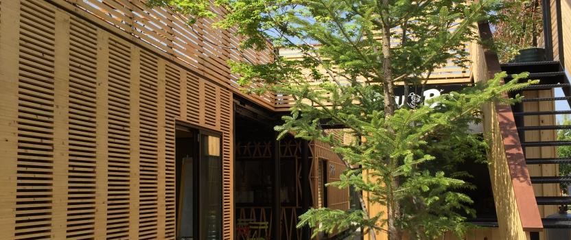 愛知県犬山市「犬山 森のマルシェ」商業建築 コンテナ+鉄骨造 撮影