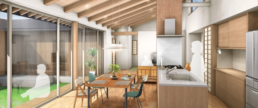三重県桑名市「七和の家」木造平屋建 現場