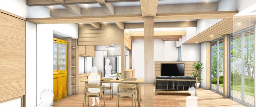愛知県津島市 「神守の家」 木造2階建 現場