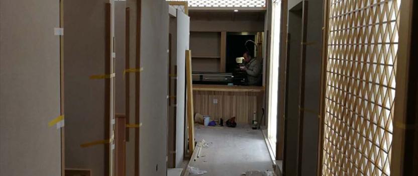 中国張家港 「日本料理」 店舗 現場監理