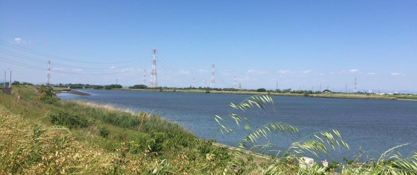 長良川の堤防