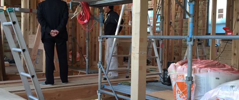 福井県福井市「和敬の家」木造2階建て 現場