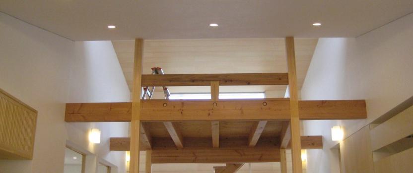岐阜県羽島市「回光の家」木造住宅 平屋建+ロフト オープンハウス