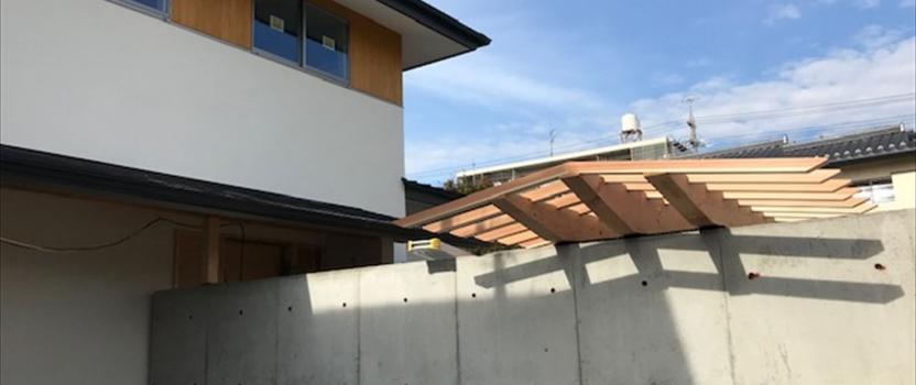 愛知県一宮市 「一宮のコートハウス」 木の家 現場