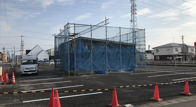 愛知県一宮市 「開明薬局」工事 平屋 上棟