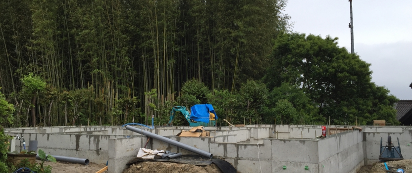 愛知県東海市「大田の家」木造2階建 2世帯住宅 現場