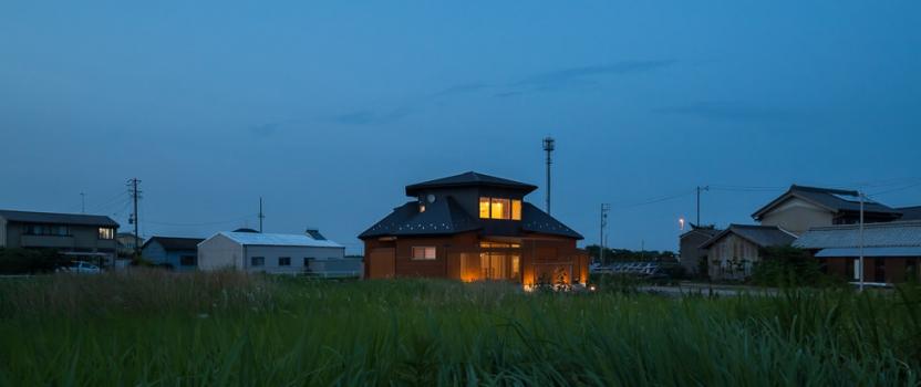 愛知県稲沢市祖父江「開花の家」木造住宅 竣工写真