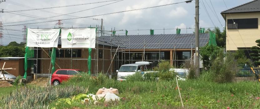 三重県桑名市「七和の家」 平屋 国産材 フォレスタイル 現場