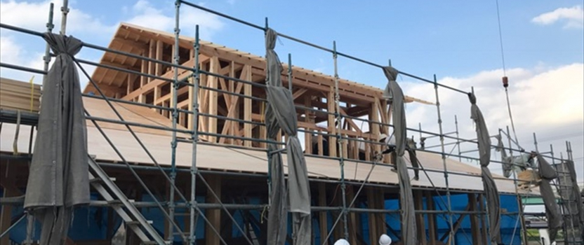 愛知県一宮市 「苅安賀の家」 木の家 上棟