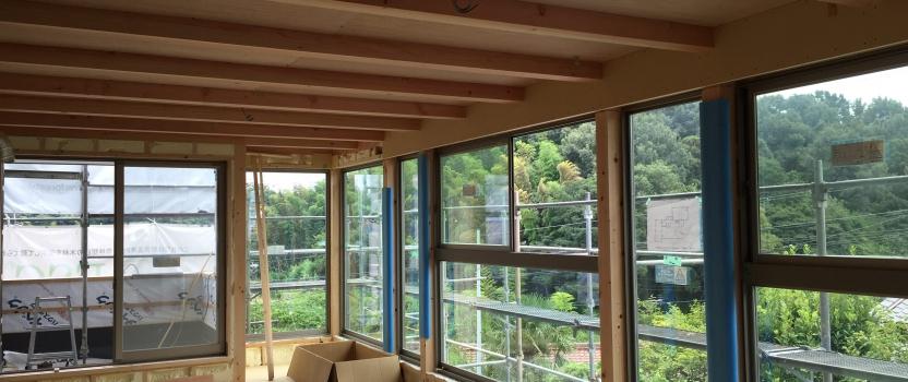 愛知県東海市「大田の家」 岐阜県産材 フォレスタイル 2世帯住宅 現場