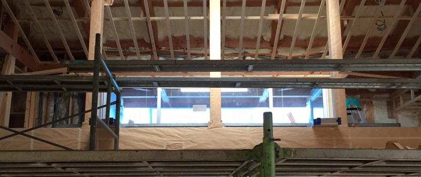 愛知県安城市「塔元の家」木造2階建 スキップフロア・変形敷地 現場